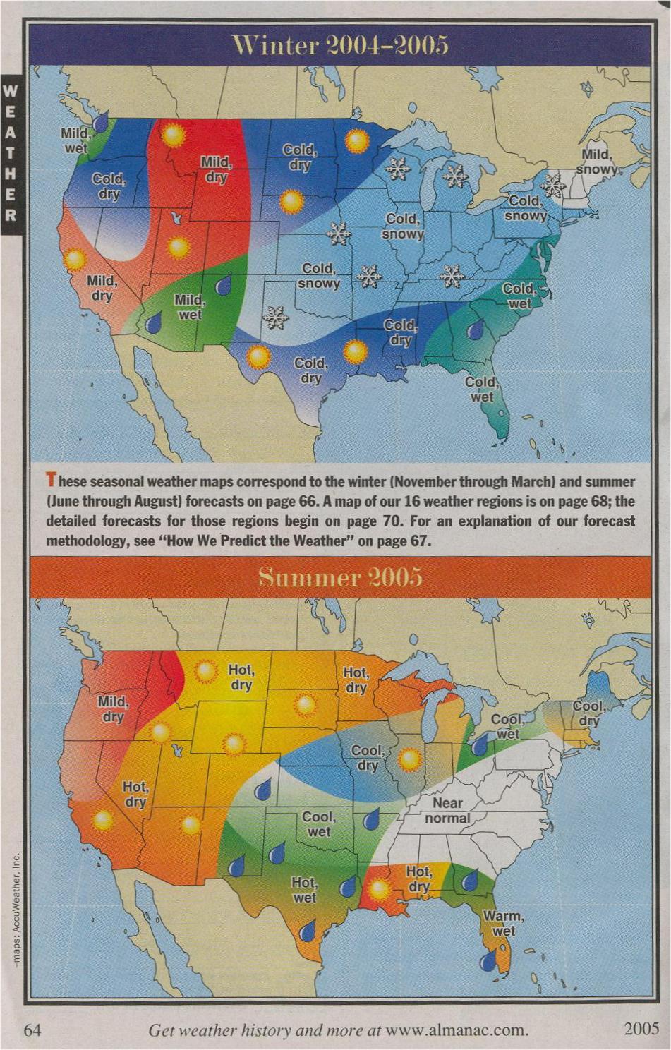 Old Farmers Almanac Weather Verification 2004-2005