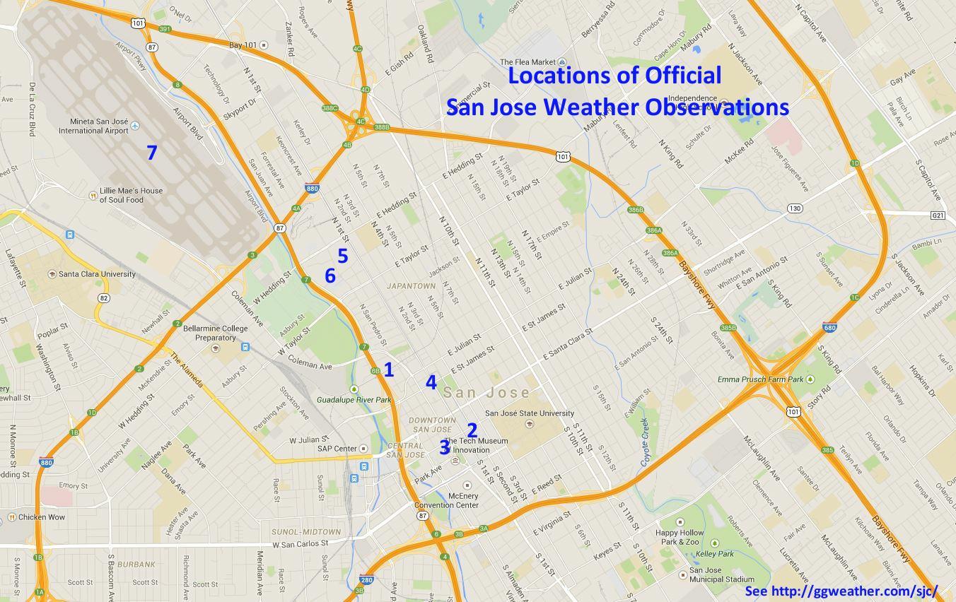 Climate Of San Jose Narrative - Us weather bureau maps